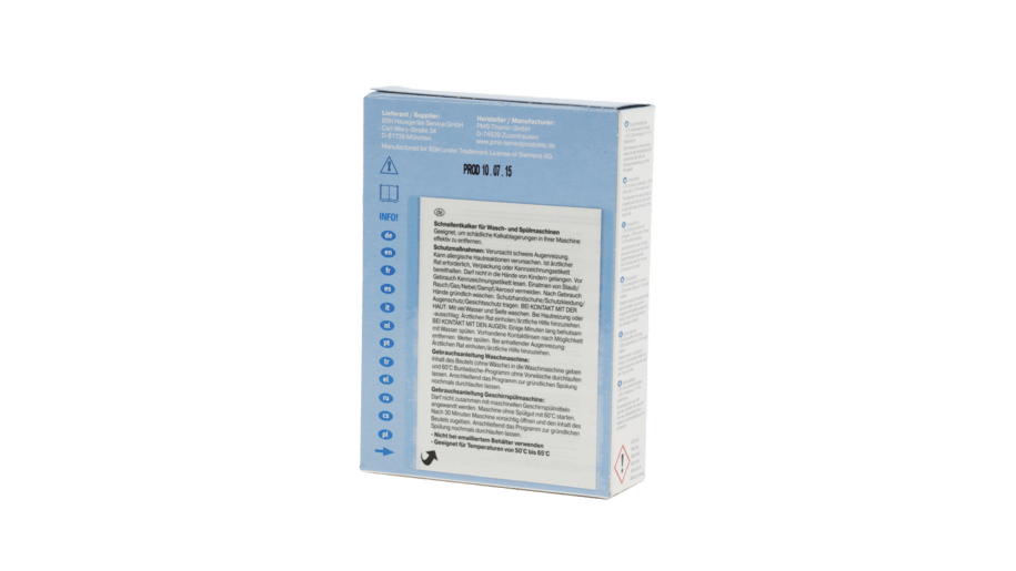 Neff 00311506 schnellentkalker fur wasch und for Neff spülmaschinen