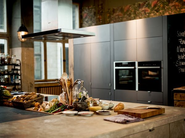 NEFF Ovens featured in a busy kitchen