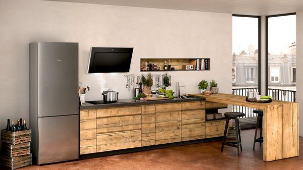 Side By Side Kühlschrank In Ecke : Kühlschrank einbau freistehend für ihre küche neff