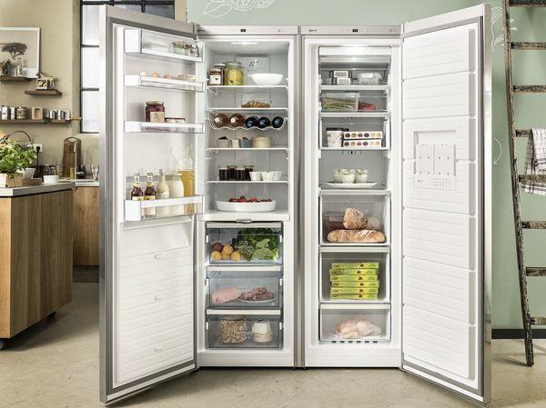 Side By Side Kühlschrank Geringe Tiefe : Kühl gefrierkombinationen kühlschränke und gefrierschränke neff