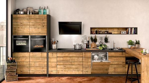 Невидимые и  эффективные - полностью встраиваемые посудомоечные машины NEFF.