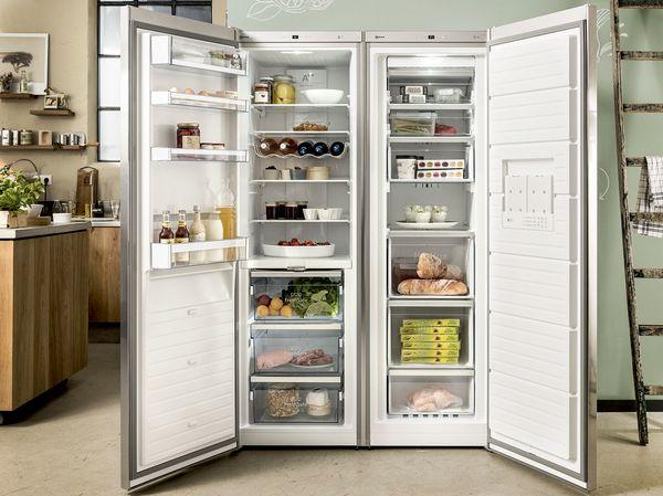 Amerikanischer Kühlschrank Edelstahl : Side by side kühlschrank kühlschränke gefrierkombinationen neff